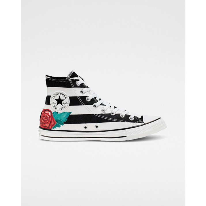 Womens Converse Chuck Taylor All Star Shoes White/Black/Red 034IJZXA