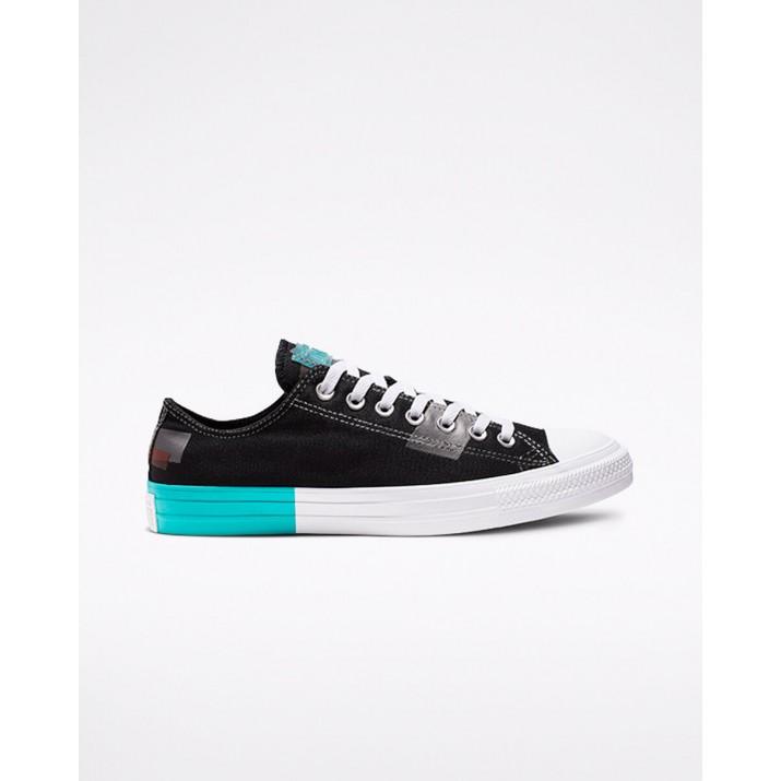 Mens Converse Chuck Taylor All Star Shoes Black/Red/White 039IWWJI
