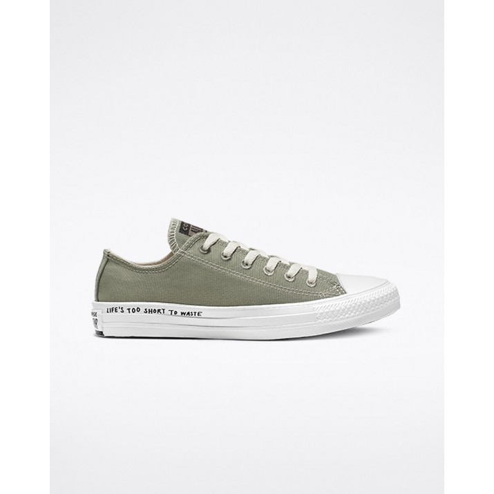 Mens Converse Chuck Taylor All Star Shoes Grey/Black/White 079RZOCP