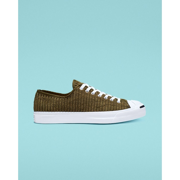 Mens Converse Jack Purcell Shoes Olive/White/Black 106DWZUI