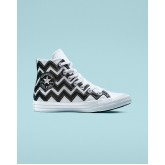 Womens Converse Chuck Taylor All Star Shoes White/Black/White 118GWMKK