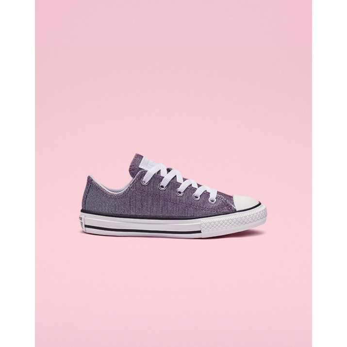 Kids Converse Chuck Taylor All Star Shoes Platinum/Silver/White 157GIKBE