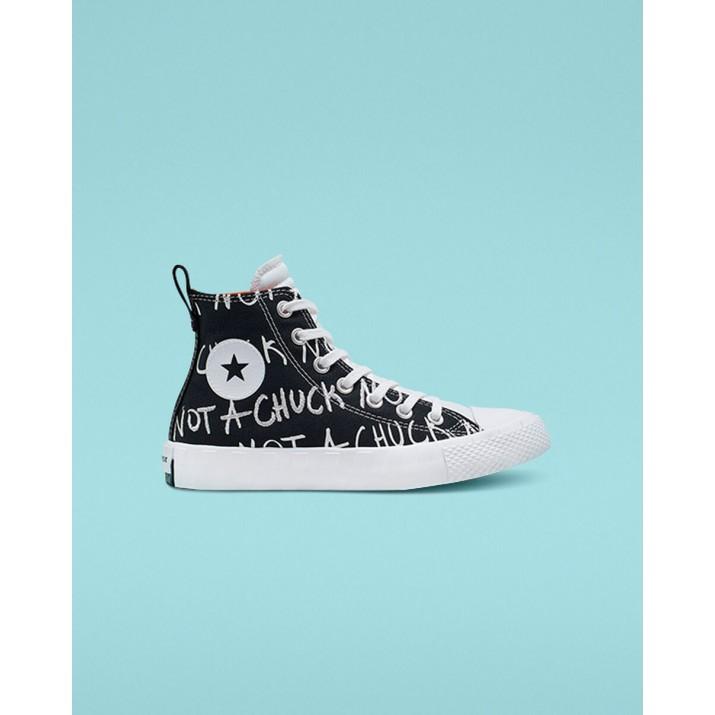 Kids Converse Not A Chuck Shoes Black/White 180TMBCT