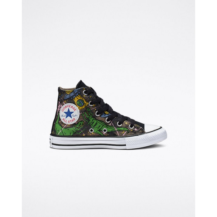 Kids Converse Chuck Taylor All Star Shoes Black 296CRXFF