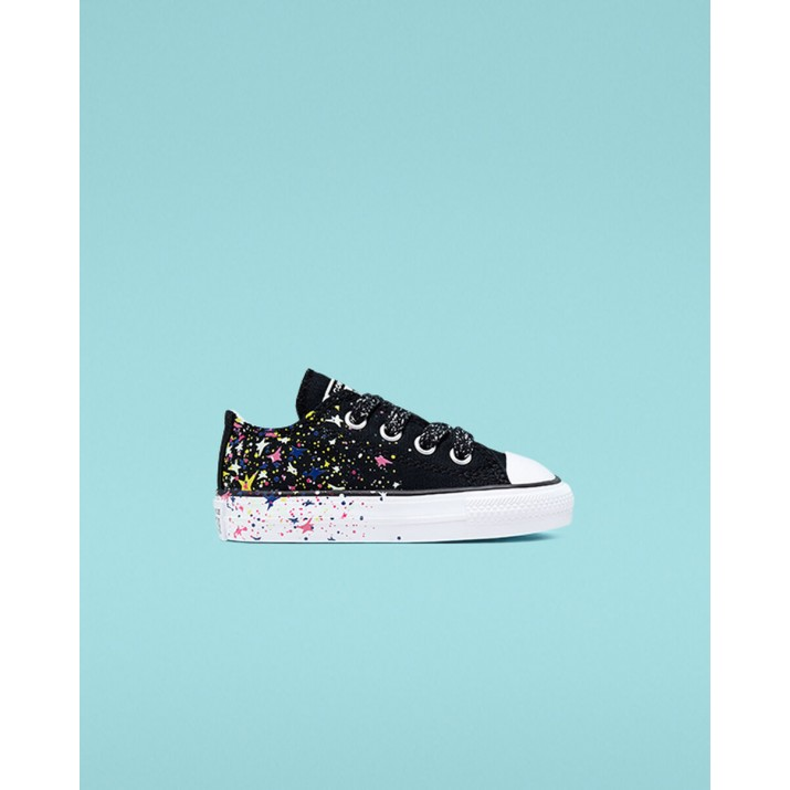 Kids Converse Chuck Taylor All Star Shoes Black/White/Multicolor 356UVHJE