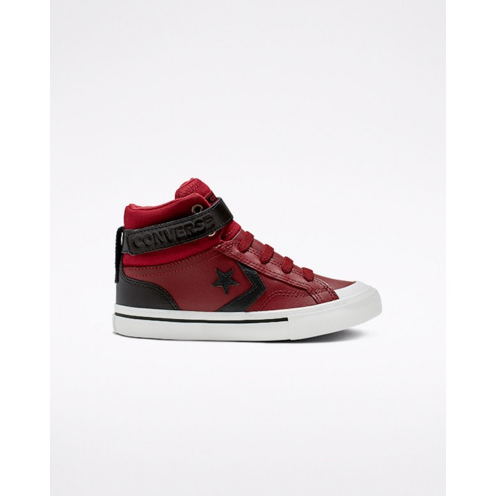 Kids Converse Pro Blaze Strap Shoes Dark Red 367XHJIQ