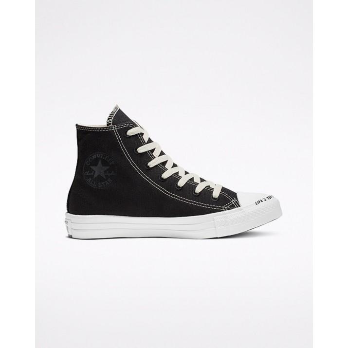 Zapatillas Converse Chuck Taylor All Star Hombre Negras/Blancas 424MNCAC