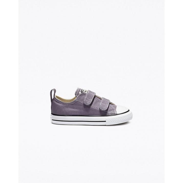 Kids Converse Chuck Taylor All Star Shoes Purple/Beige White 444GAEOU