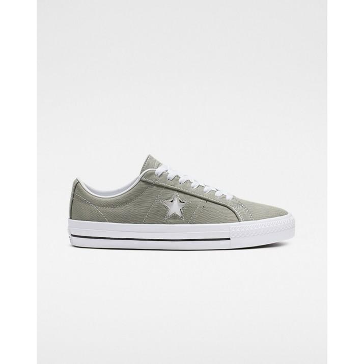 Womens Converse One Star Shoes Grey/Black/White 479FSMRI