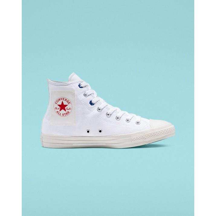 Converse Chuck Taylor All Star Womens Shoes White/Red 496BTXNT
