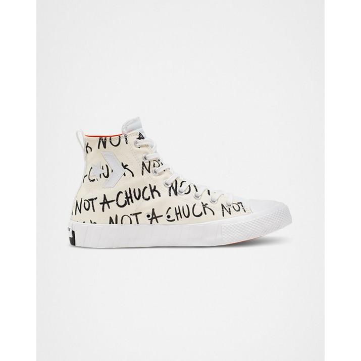 Womens Converse Not A Chuck Shoes White 563MSSTC