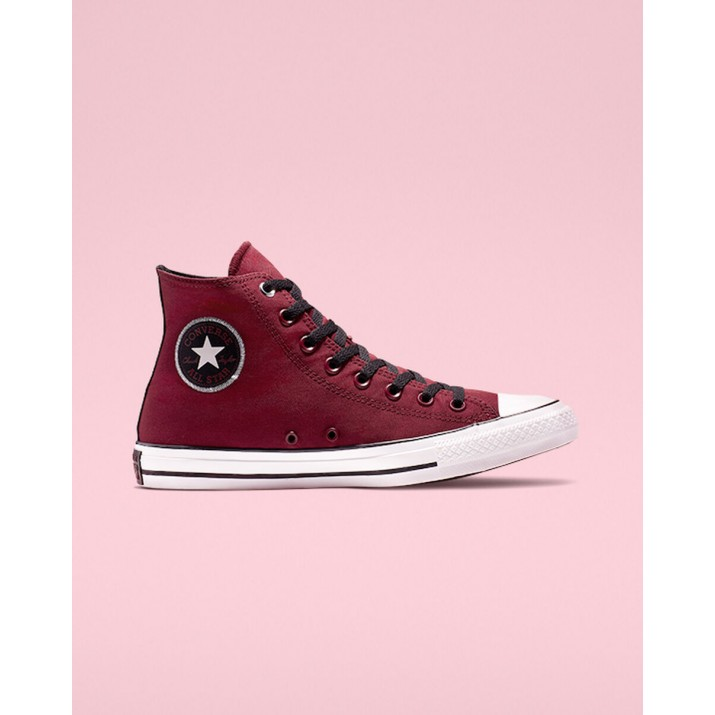 Mens Converse Chuck Taylor All Star Shoes Dark Red/White/Black 572XNMKE