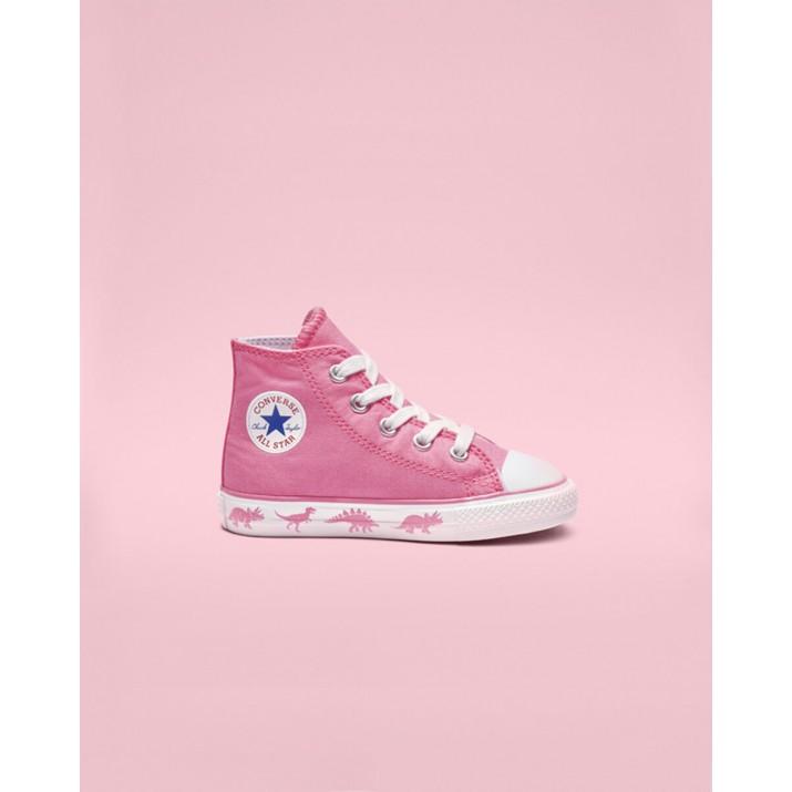 Kids Converse Chuck Taylor All Star Shoes Pink/White 595ZOUNH