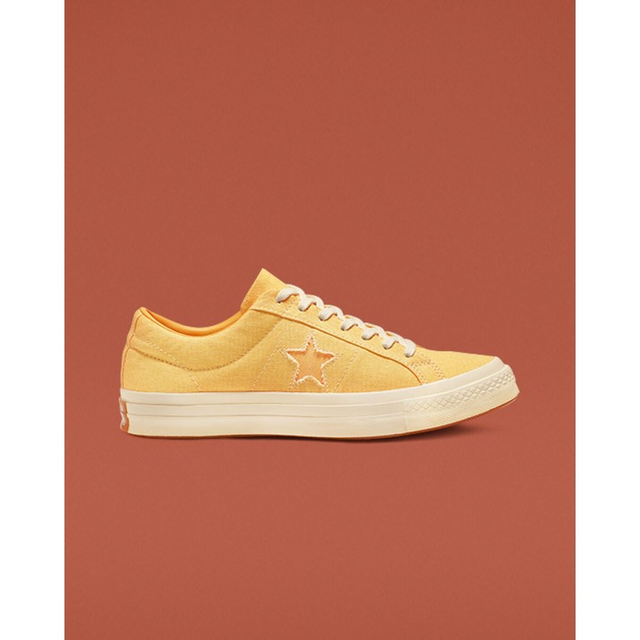 Womens Converse One Star Shoes Yellow 608OKSAA