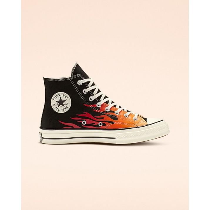 Womens Converse Chuck 70 Shoes Black/Red 630ERLOH