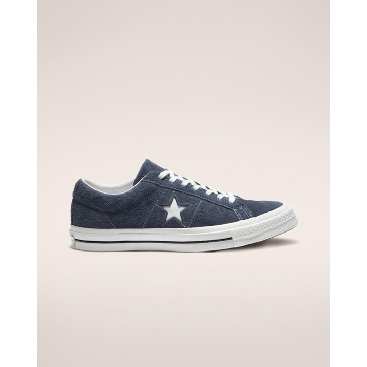 Mens Converse One Star Shoes Navy/White 630MAAMB