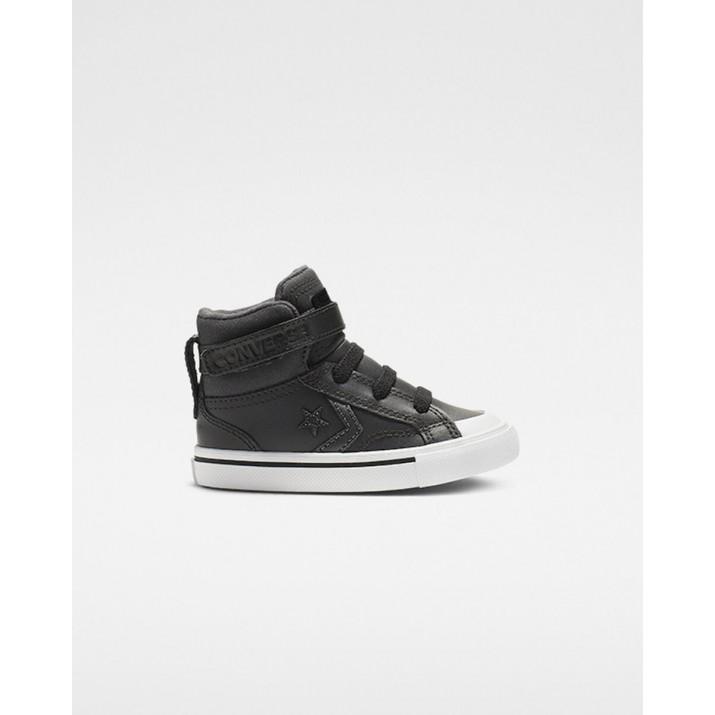 Kids Converse Pro Blaze Strap Shoes Black 674LSHKK
