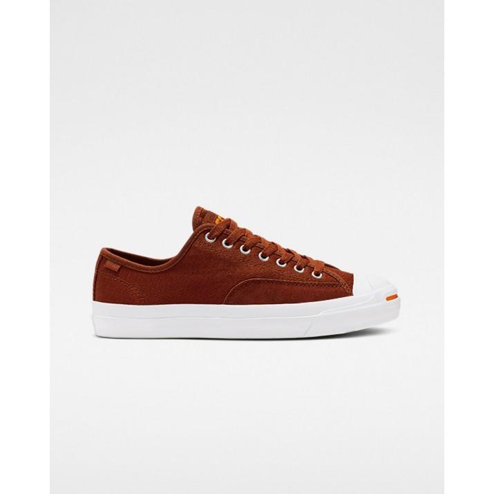 Mens Converse Jack Purcell Shoes White/Orange 800GRDCK