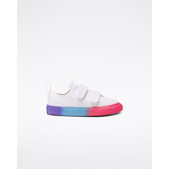 Kids Converse Chuck Taylor All Star Shoes White/Pink/Black 815WBESV