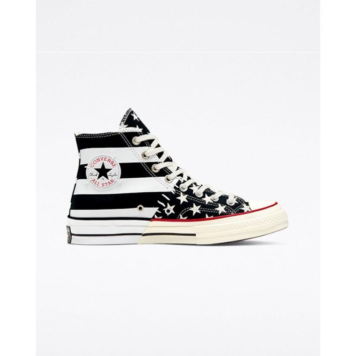 Zapatillas Converse Chuck 70 Mujer Negras/Blancas 823ZREGN