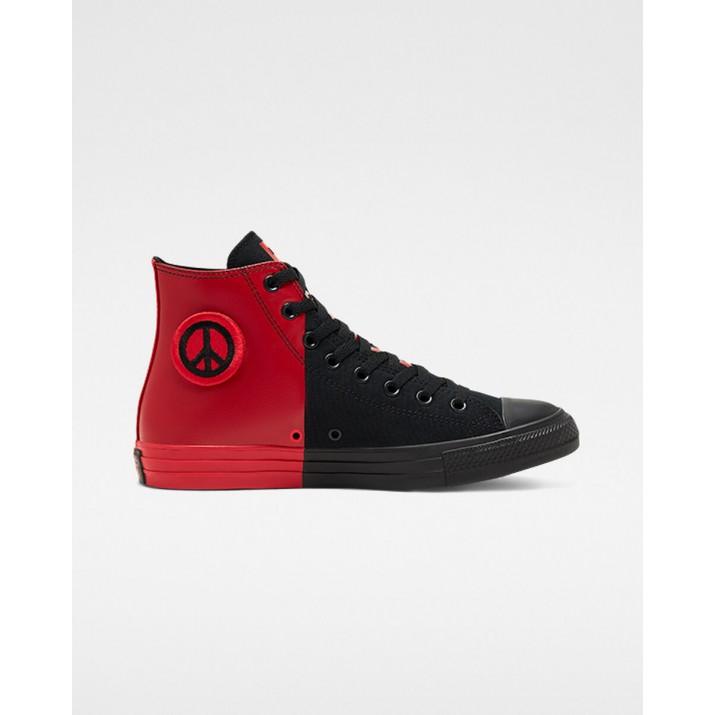 Mens Converse Chuck Taylor All Star Shoes Black/Red/Black 850KEKUV