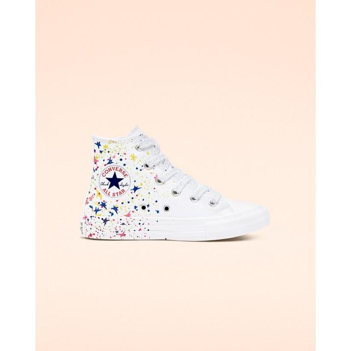 Zapatillas Converse Chuck Taylor All Star Niños Blancas/Multicolor/Blancas 927UIWXI