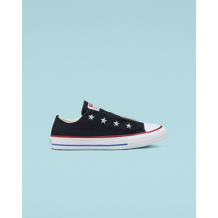 Kids Converse Chuck Taylor All Star Shoes Black/Red/Blue 932AJBPM