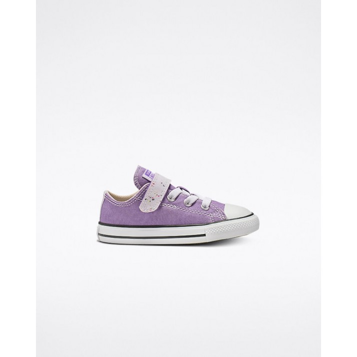 Kids Converse Chuck Taylor All Star Shoes Light Purple/Beige White 962YGPRF